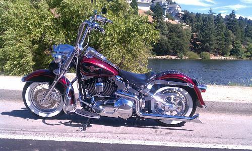 2000 Harley Davidson Flstf Softail Fat Boy Luxury Red Black