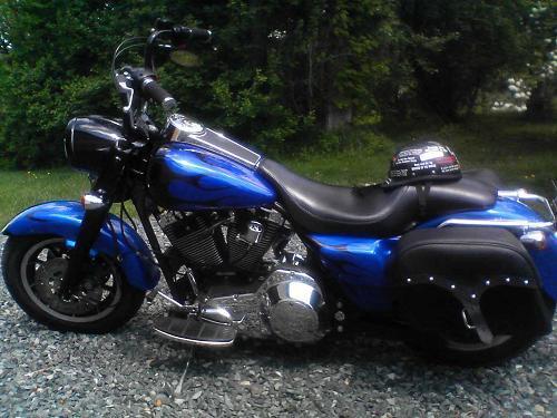 1997 Harley Davidson Flhpi Road King Police Blue Black Photo