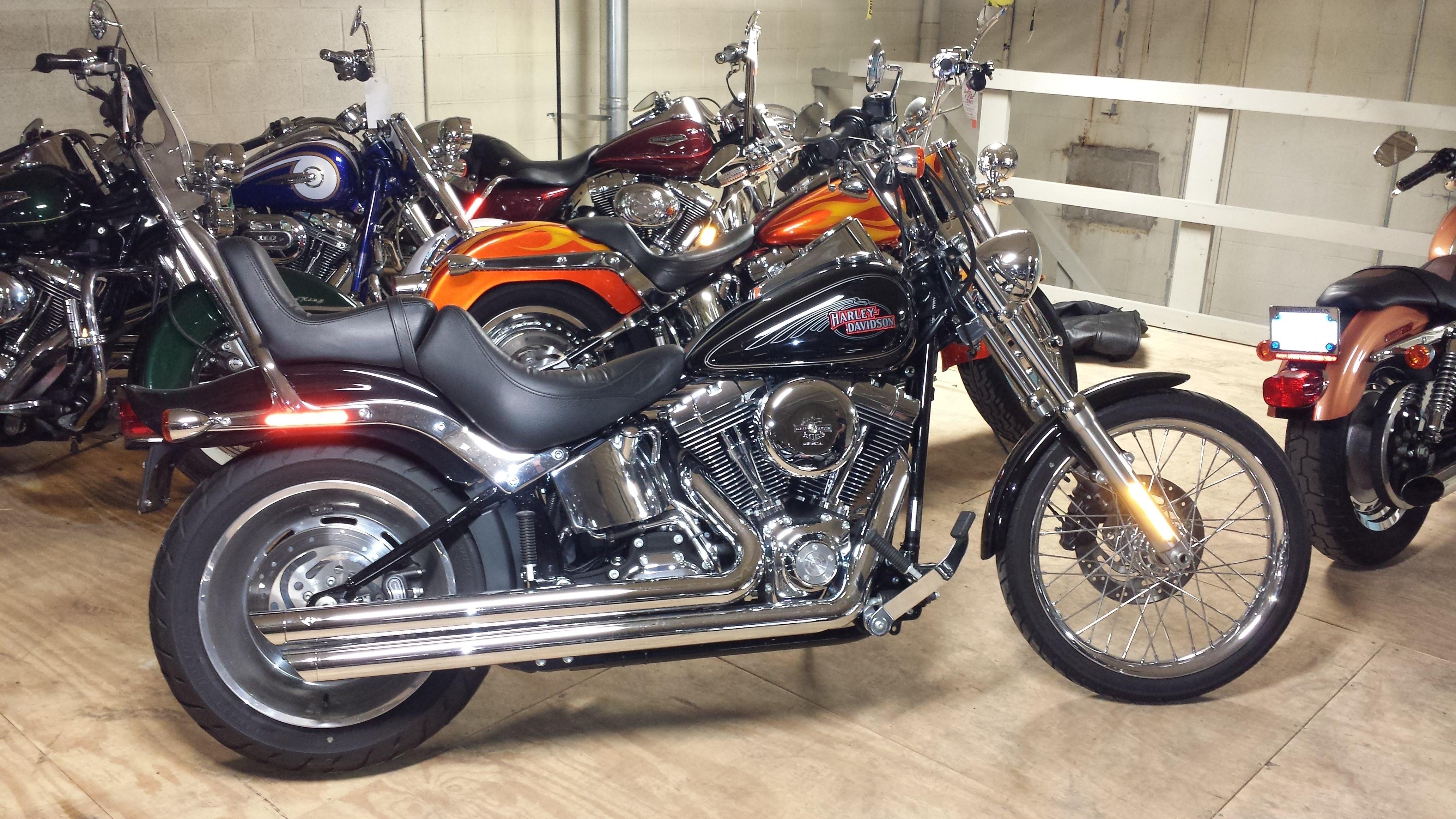 Harley davidson softail custom фото