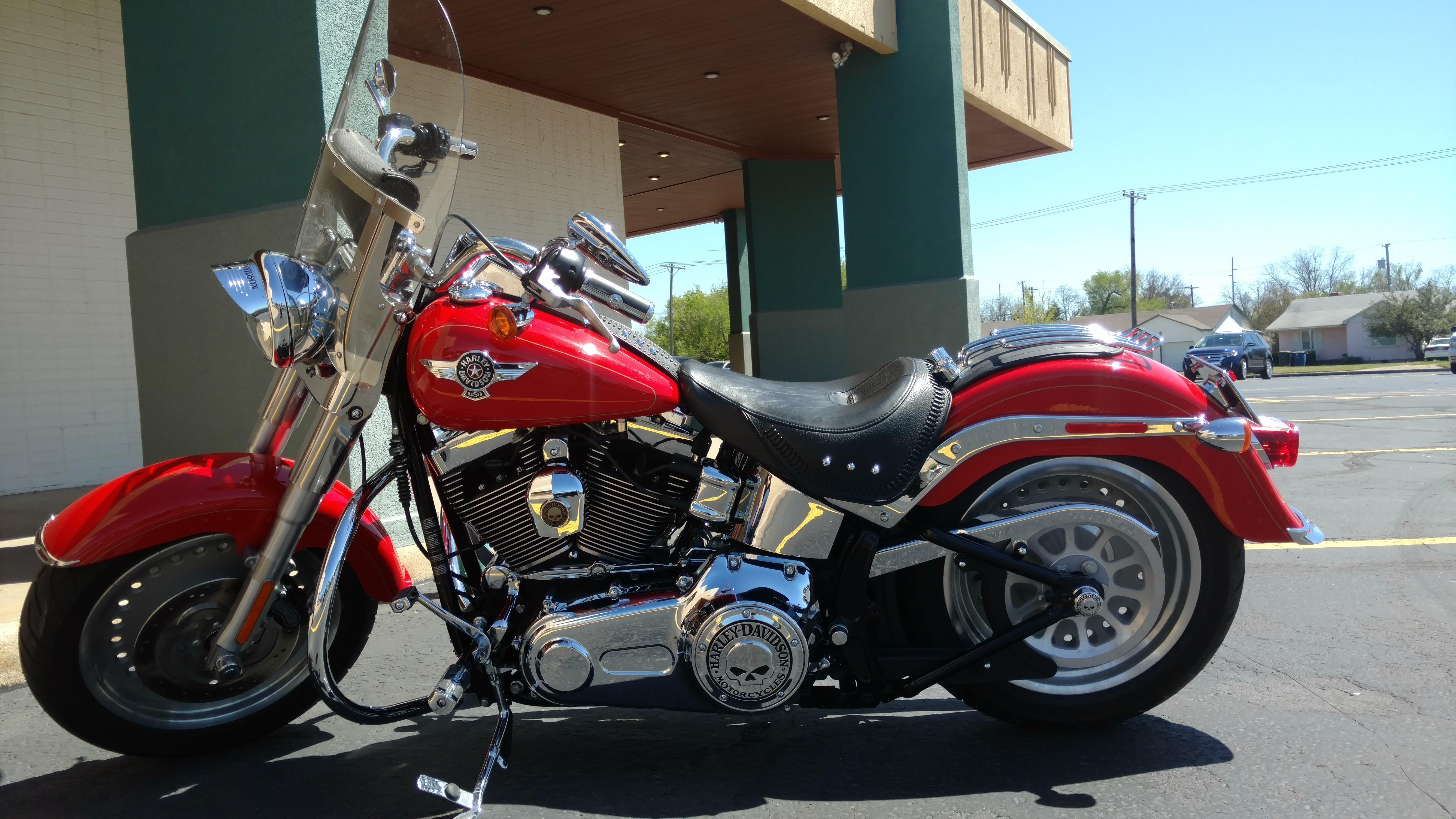 2011 Harley Davidson 174 Flstf Softail 174 Fat Boy 174 Red
