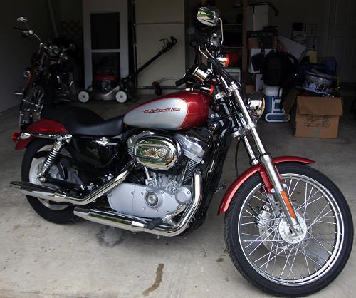 Harley Davidson Houston Locations: 2005 Harley-Davidson® XL883C Sportster® 883 Custom (Cherry