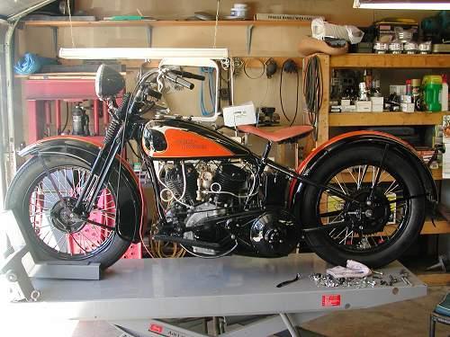 753618942o 1933 harley davidson� vl sport solo (orange black), flushing Harley Wiring Harness Diagram at love-stories.co