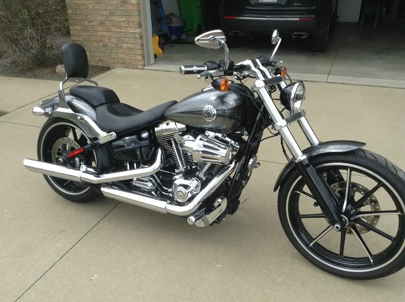 2014 Harley Davidson 174 Fxsb Softail 174 Breakout Silver