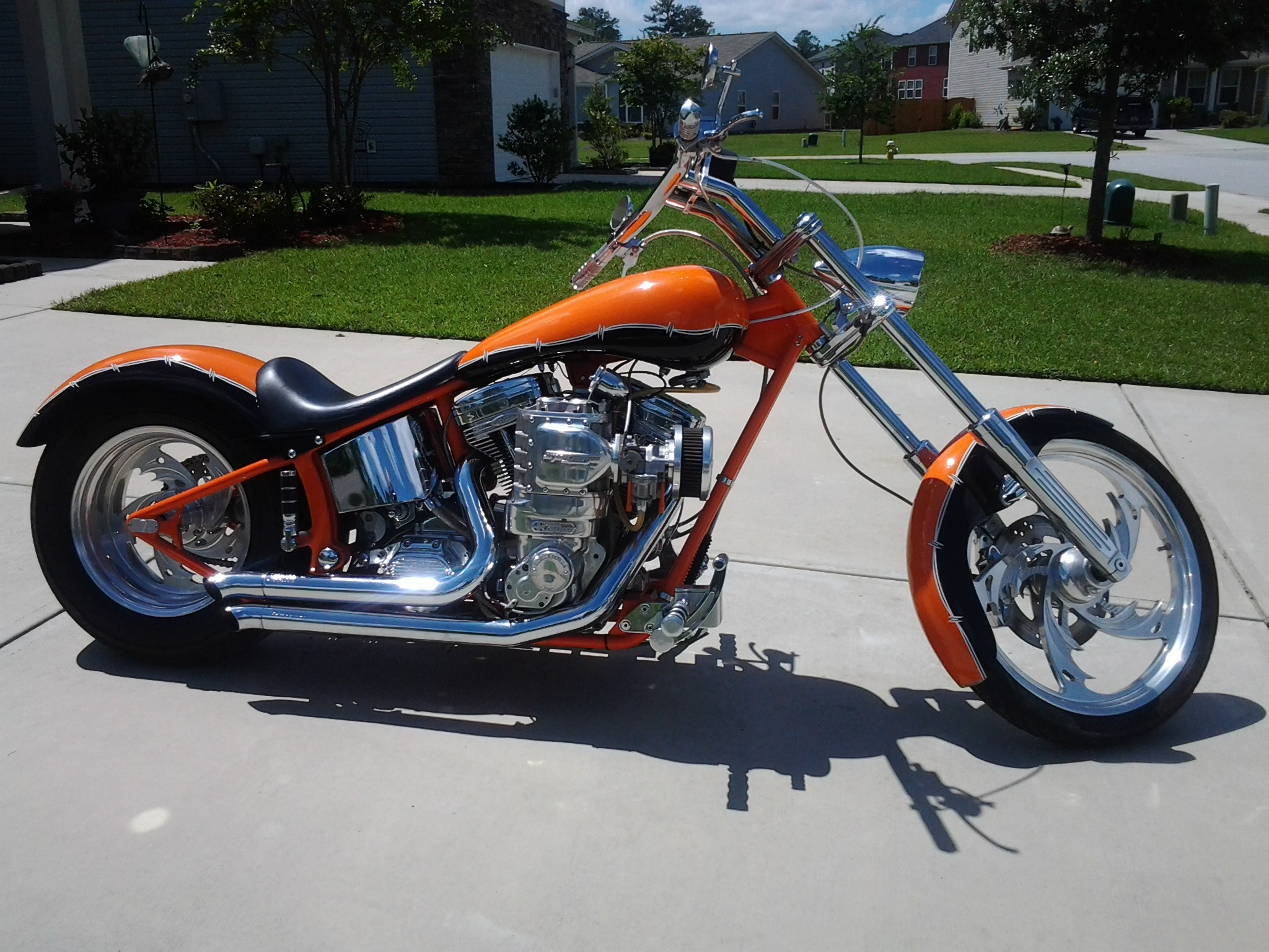 Las Vegas Motorcycle >> 2004 Harley-Davidson® Custom (Orange/Black), Hanahan, South Carolina (363786) | ChopperExchange