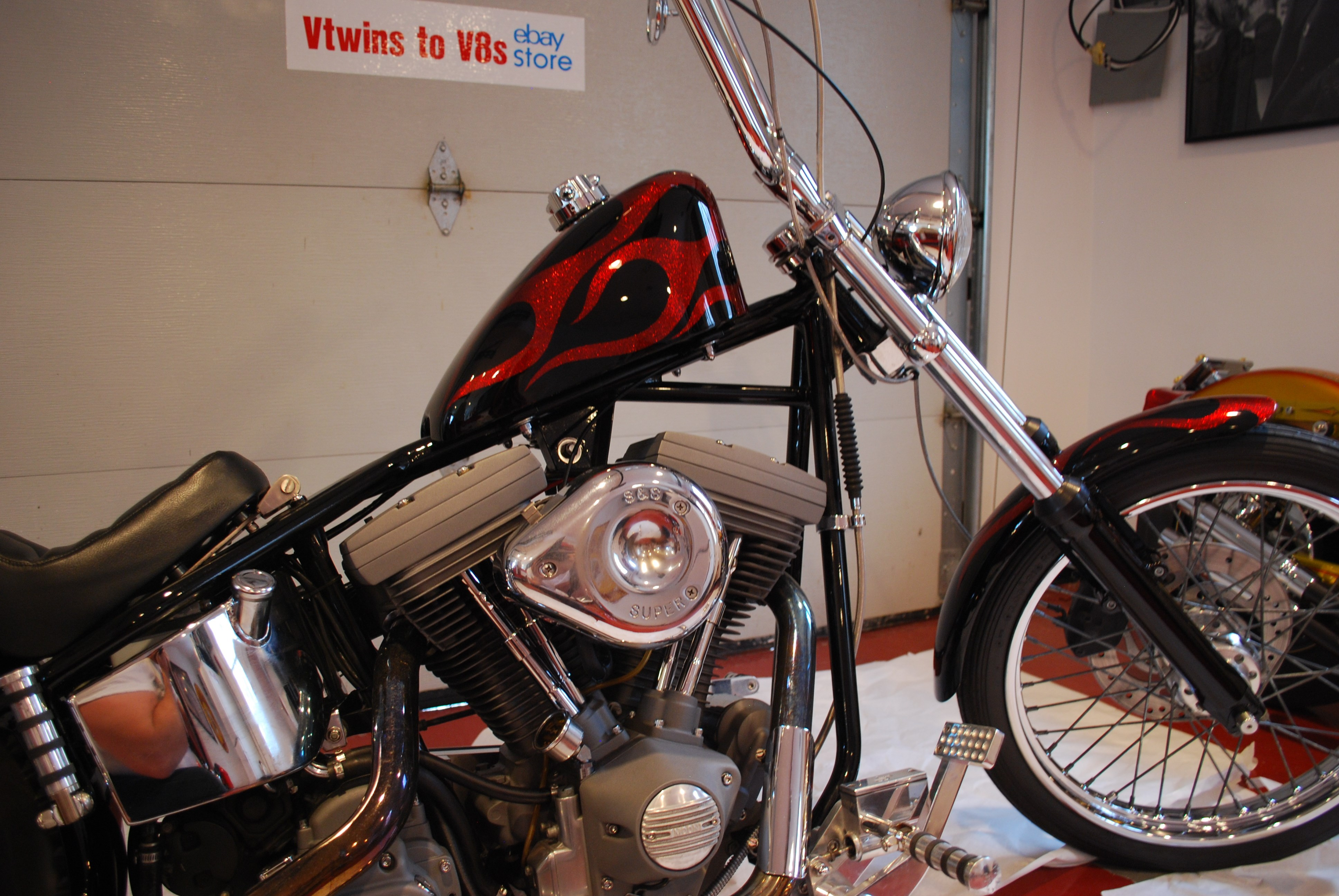 2002 Special Construction Chopper Red Metal Flake Amp Black