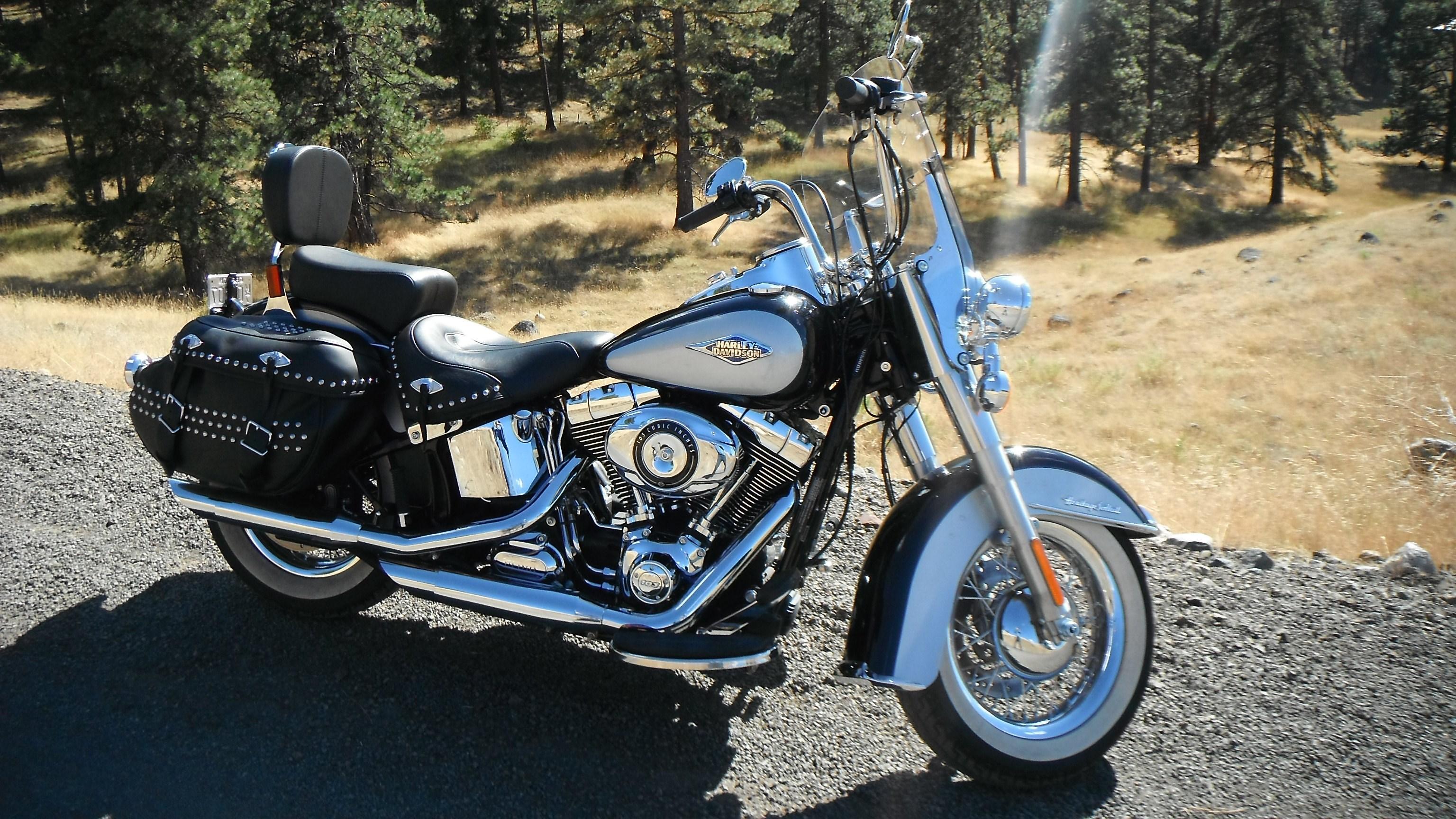 Ford Dealer Evansville Wi >> 2013 Harley-Davidson® FLSTC Heritage Softail® Classic (vivid black, hot pearl white/blue tank ...