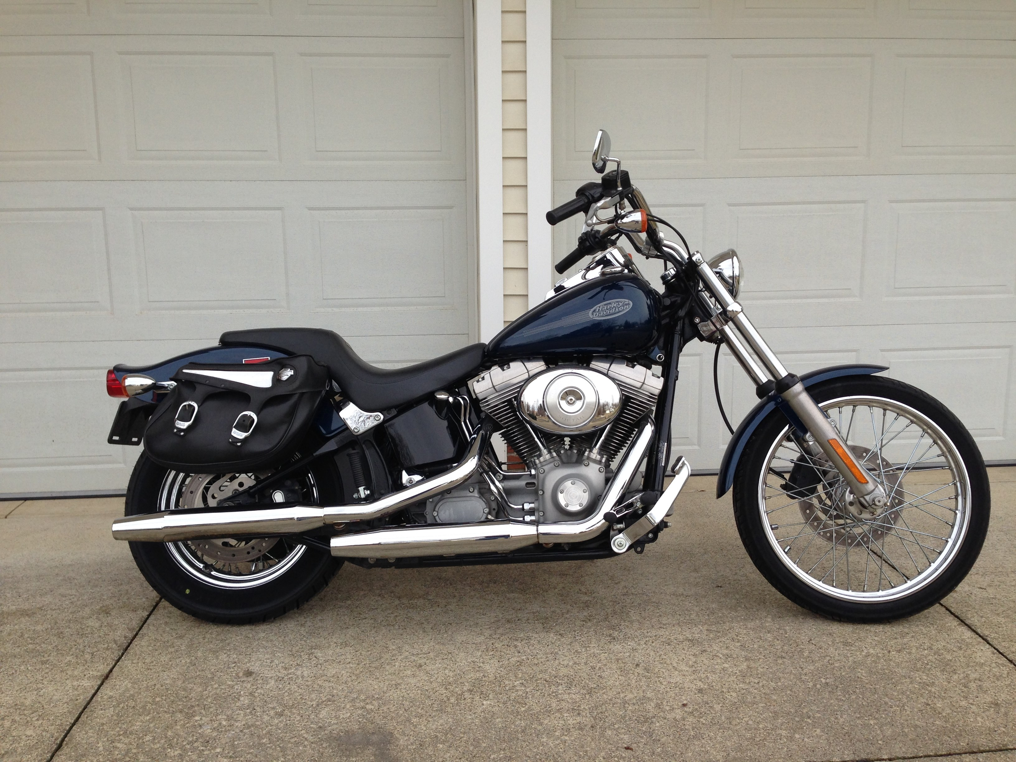 Used Harley Davidson Softail For Sale Nacogdoches Tx >> 2002 Harley-Davidson® FXST/I Softail® Standard (Blue), Orrville, Ohio (648501) | ChopperExchange