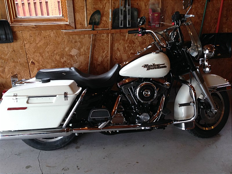 Picture White 1997 Harley Davidson Flhpi Road King Police Pictures