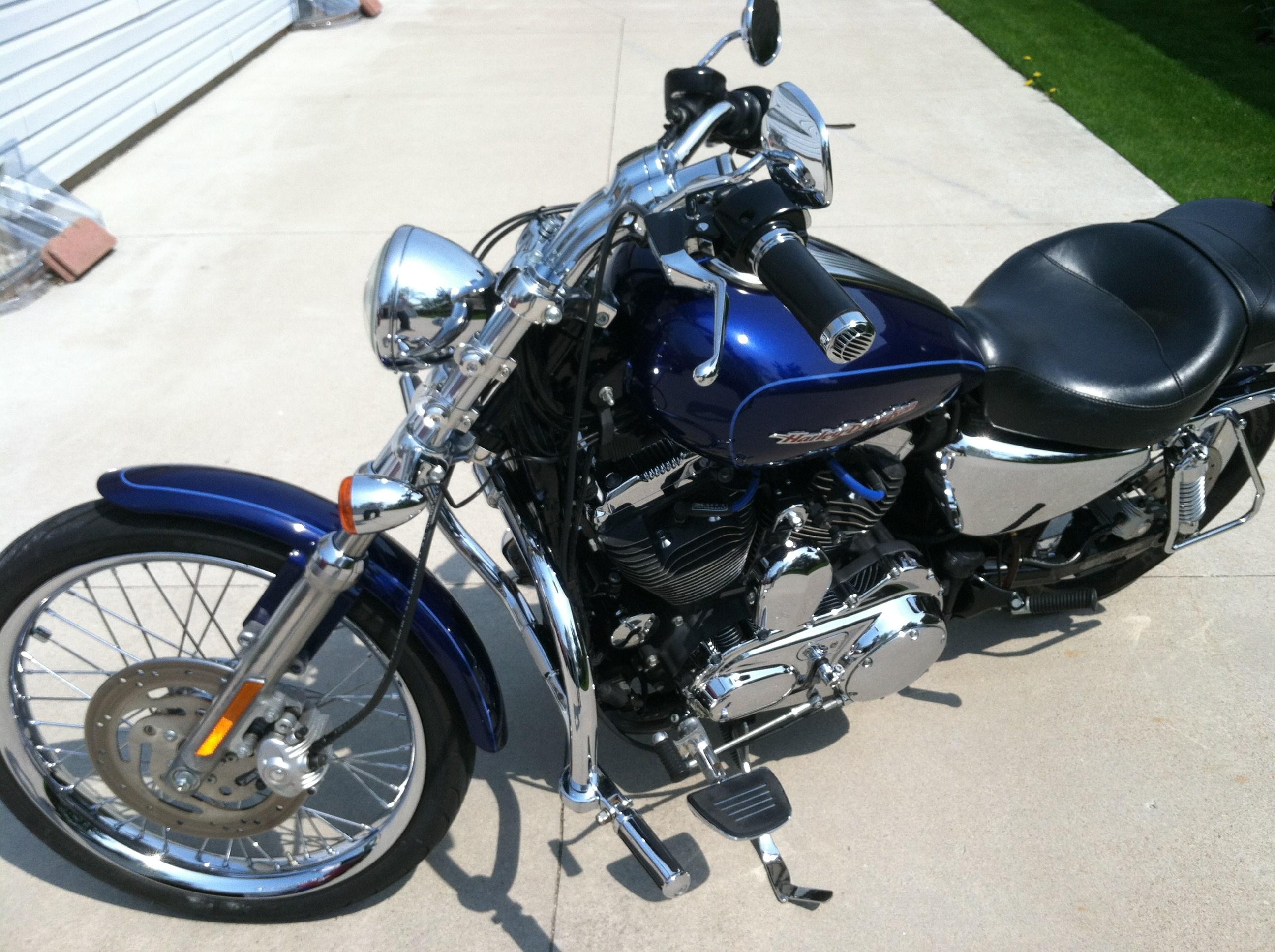 2006 Harley Davidson 174 Xl1200c Sportster 174 1200 Custom Blue