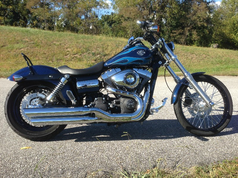 Motorcycle Parts Nashville Tn >> 2012 Harley-Davidson® FXDWG Dyna® Wide Glide® (Metallic Blue ), weaverville, North Carolina ...
