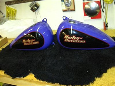 Photo of a 1999 99 Fatboy Tank and Fenders from Harley Custom Shop