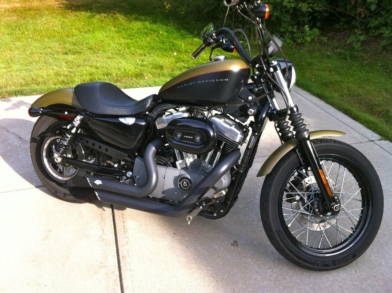 Used Harley Davidson Motorcycles For Sale San Marcos Tx >> 2008 Harley-Davidson® XL1200N Sportster® 1200 Nightster® (Olive Drab And Black Denim ...