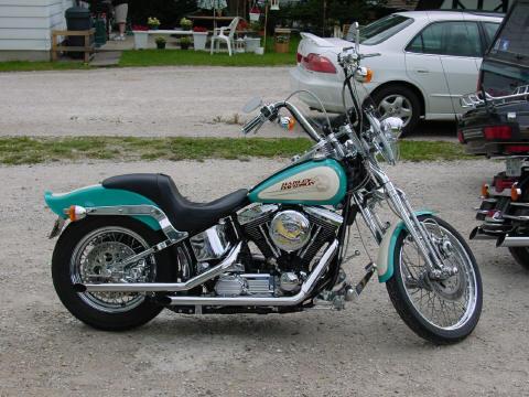 1992 Harley DavidsonR FXSTS SoftailR SpringerR Turquois Cream