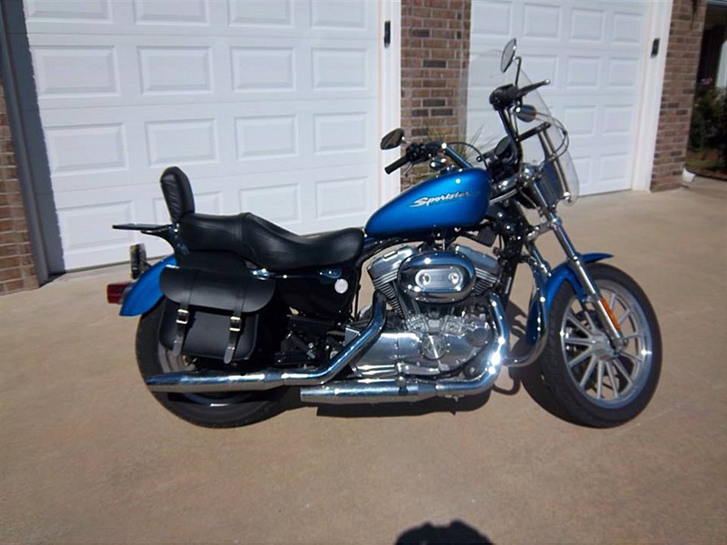 2004 harley davidson xl883c sportster 883 custom blue amoret missouri 537320. Black Bedroom Furniture Sets. Home Design Ideas