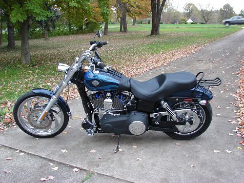 2012 Harley Davidson Fxdwg Dyna Wide Glide Big Blue Pearl Flame