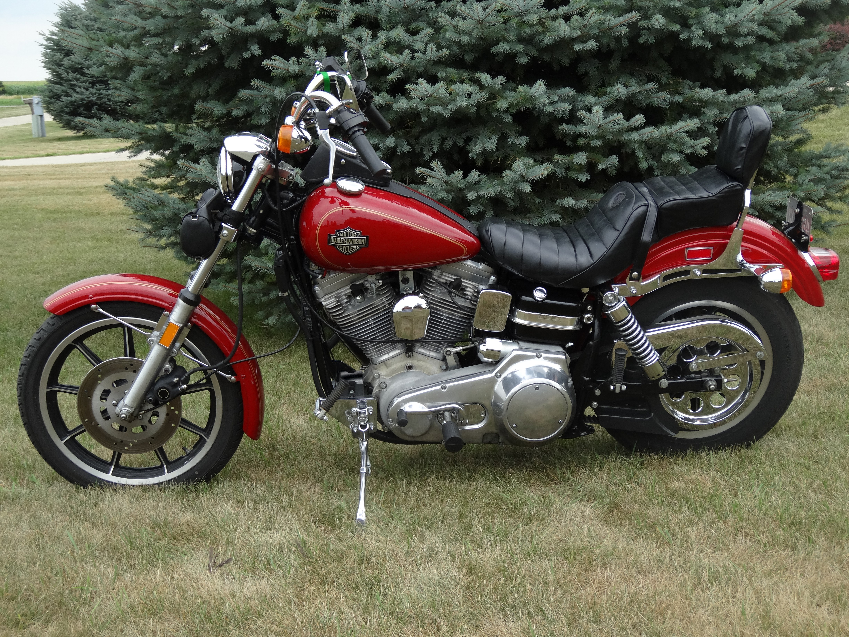 1985 Harley Davidson 174 Fxrs Low Glide 174 Red Manchester