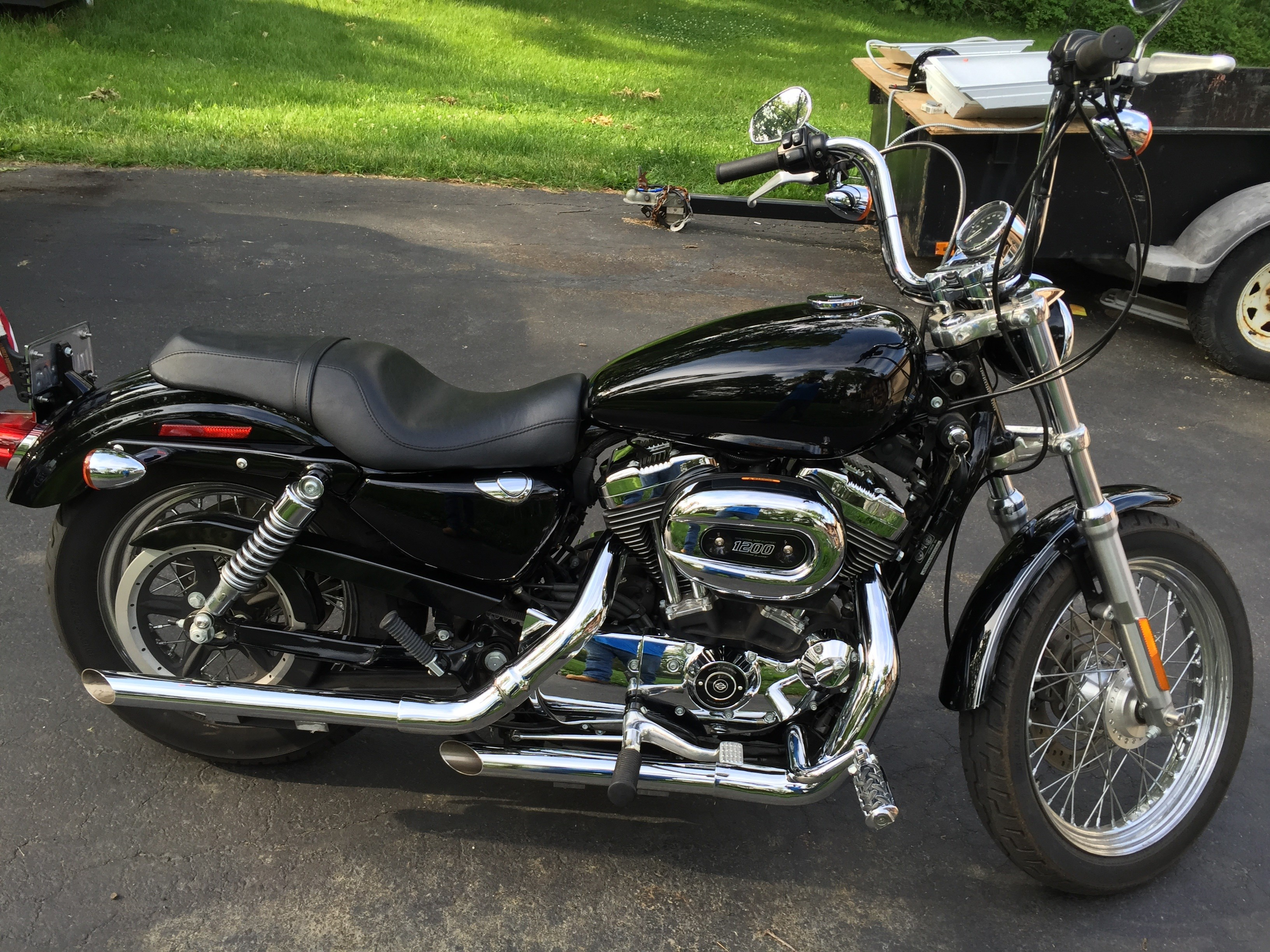 2007 Harley-Davidson® XL1200L Sportster® 1200 Low (Black ...