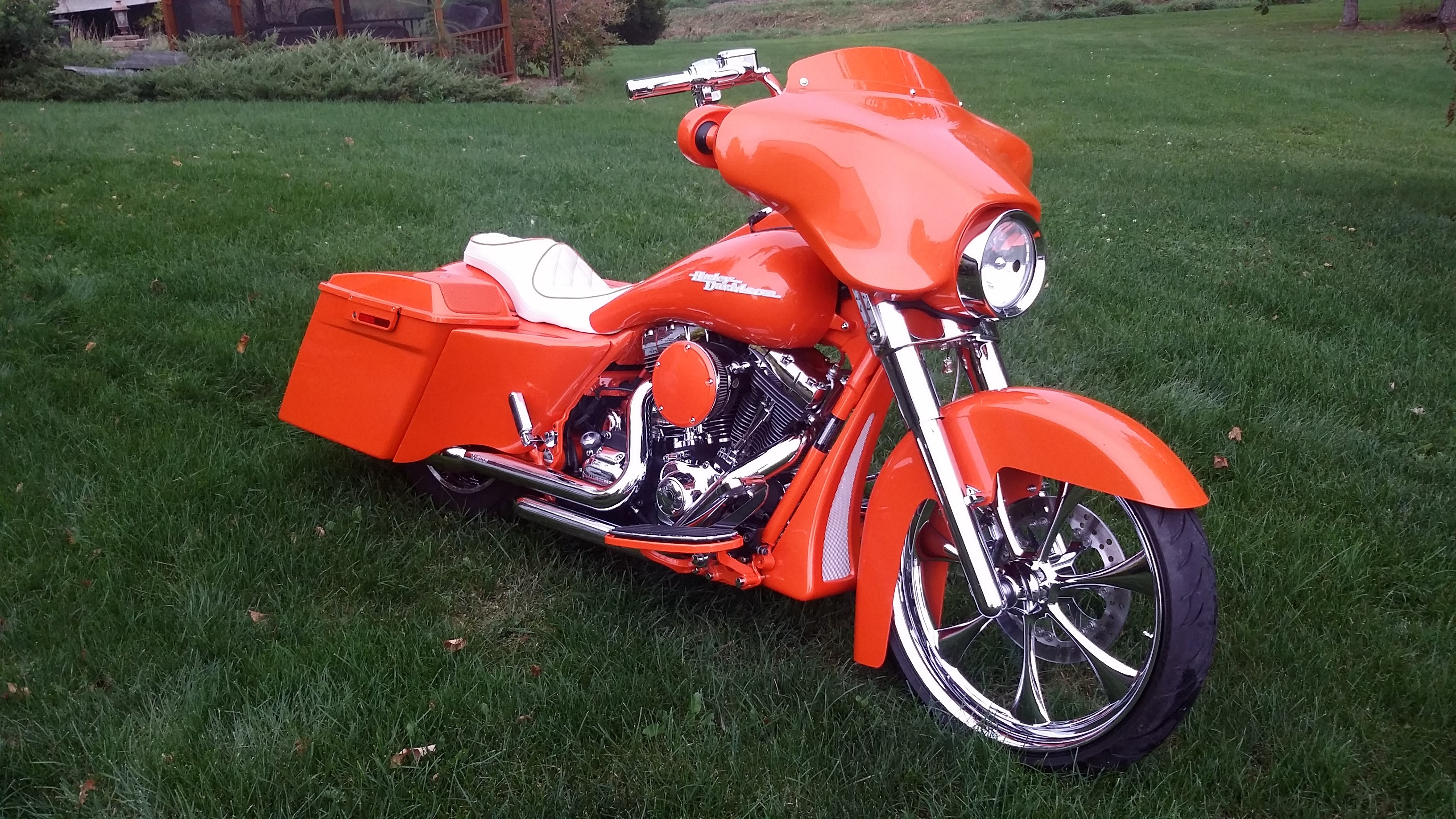 2009 Harley Davidson 174 Flhx Street Glide 174 Orange House Of