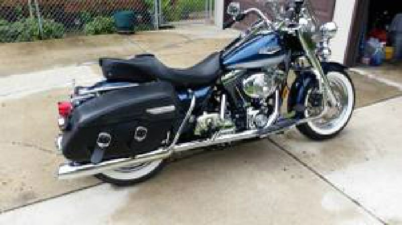 2001 Harley Davidson Flhrc Road King Classic Blue Silver Photo