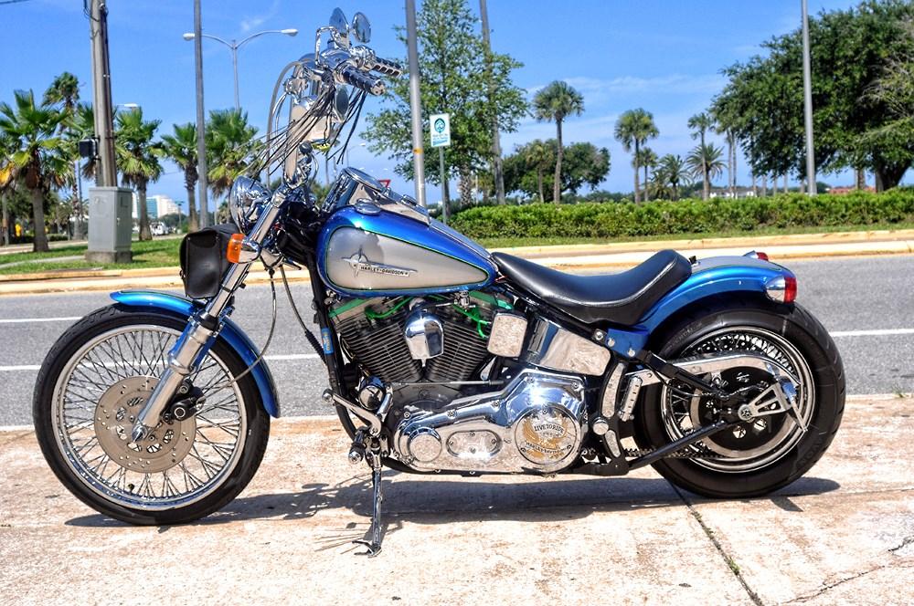 1999 Harley-Davidson® FXSTC Softail® Custom (Blue & Silver ...