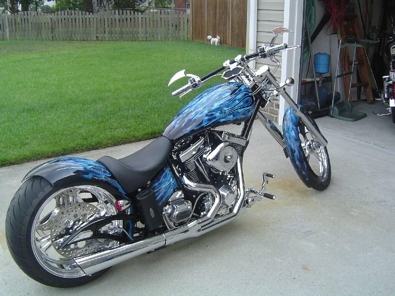 2007 Big Bear Choppers Venom ProStreet (Blue Black Flames ...