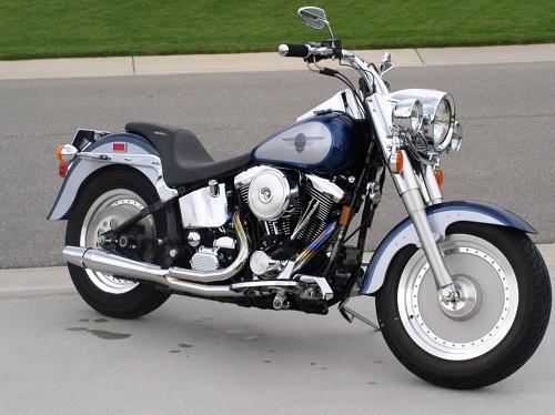 1999 Harley Davidson Flstf Fat Boy Sinister Blue Diamond Ice