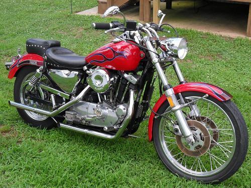 1985 Harley-Davidson® XLH-1000 Sportster® 1000 (Red,Black Flames