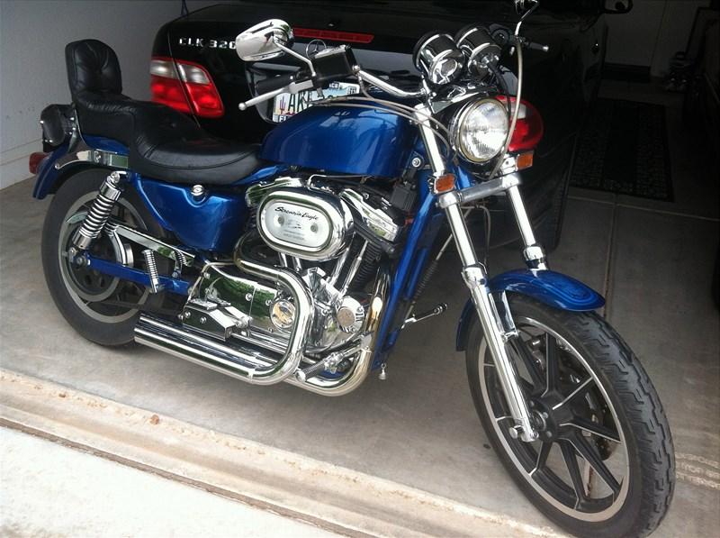 Picture Of Custom Blue 1991 Harley DavidsonR XLH 1200 SportsterR