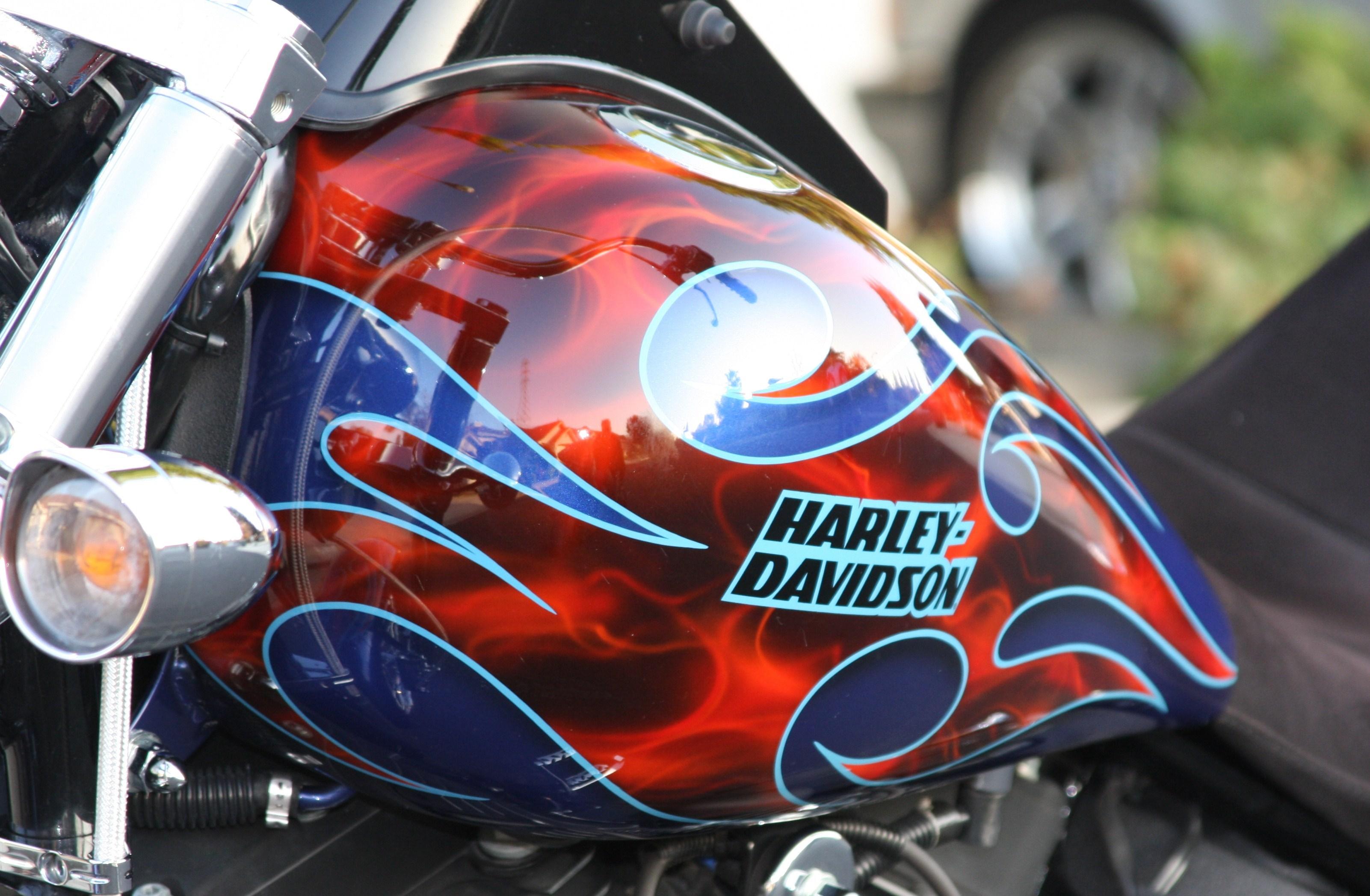 2006 Harley Davidson 174 Fxstb I Softail 174 Night Train 174 Blue