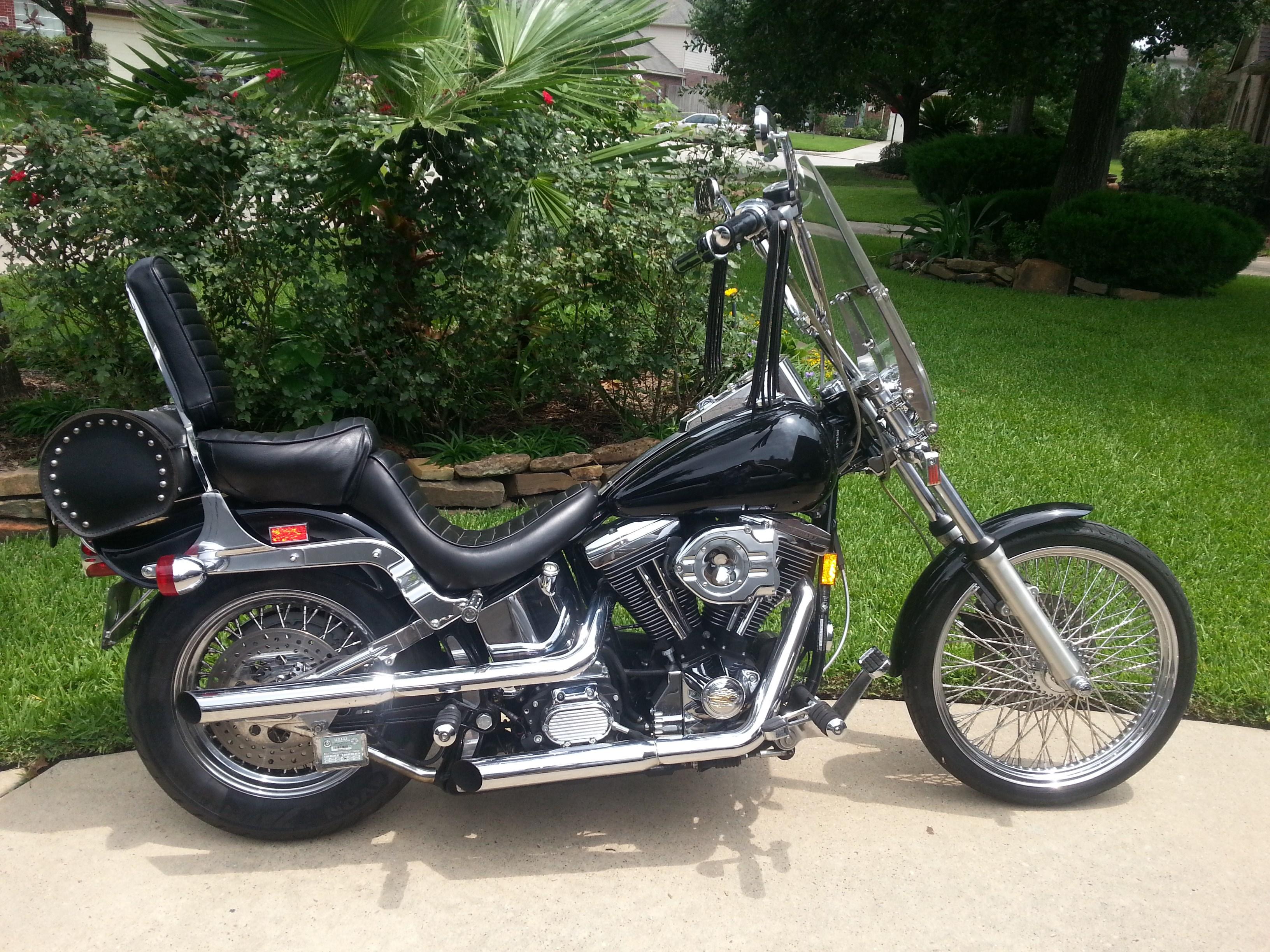 1997 Harley Davidson 174 Fxstc Softail 174 Custom Black