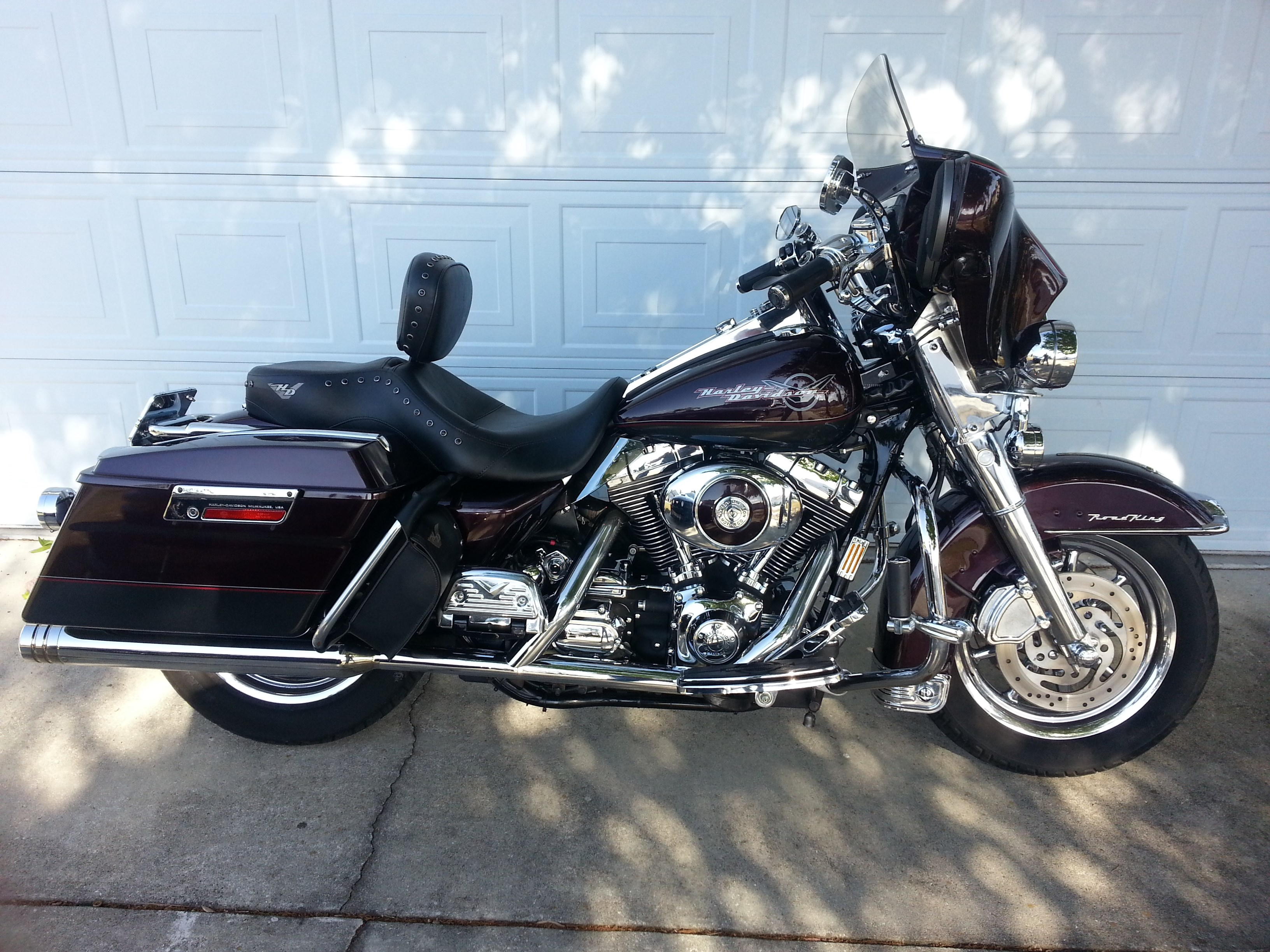 2005 harley davidson flhr i road king black cherry. Black Bedroom Furniture Sets. Home Design Ideas