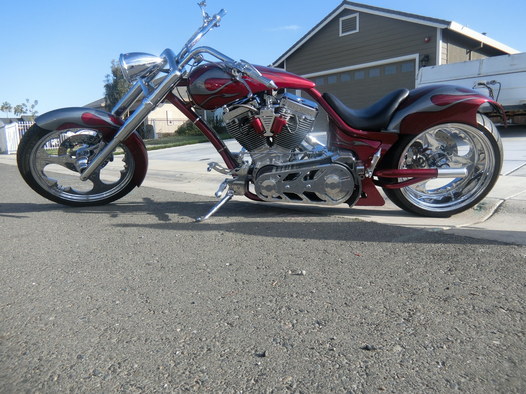 2005 midwest motor vehicles custom chopper red for California department of motor vehicles sacramento