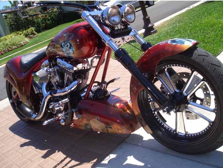 Photo Of A 1991 Harley DavidsonR FXSTC SoftailR Custom