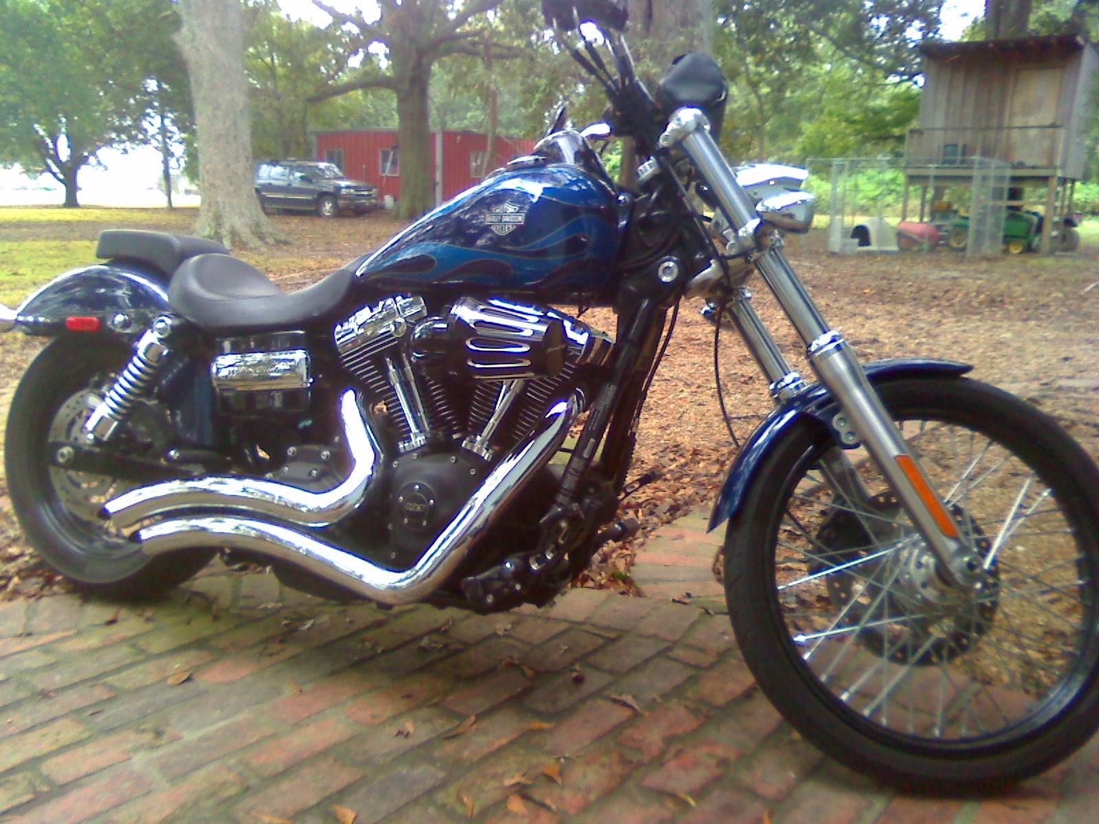 2012 Harley-Davidson® FXDWG Dyna® Wide Glide® (Blue/Flames ...