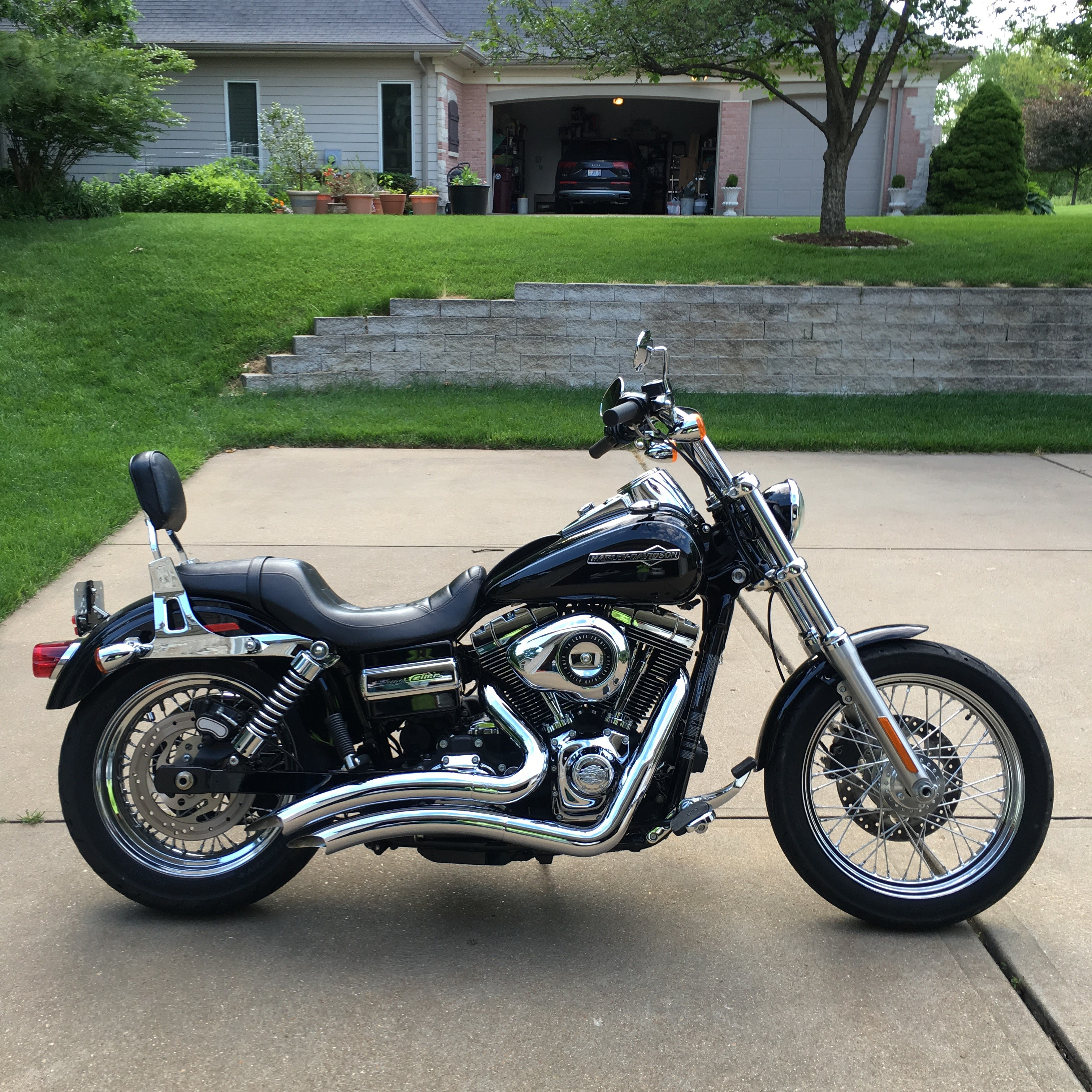 2012 harley davidson fxdc dyna super glide custom black fenton missouri 749032 cyclecrunch. Black Bedroom Furniture Sets. Home Design Ideas