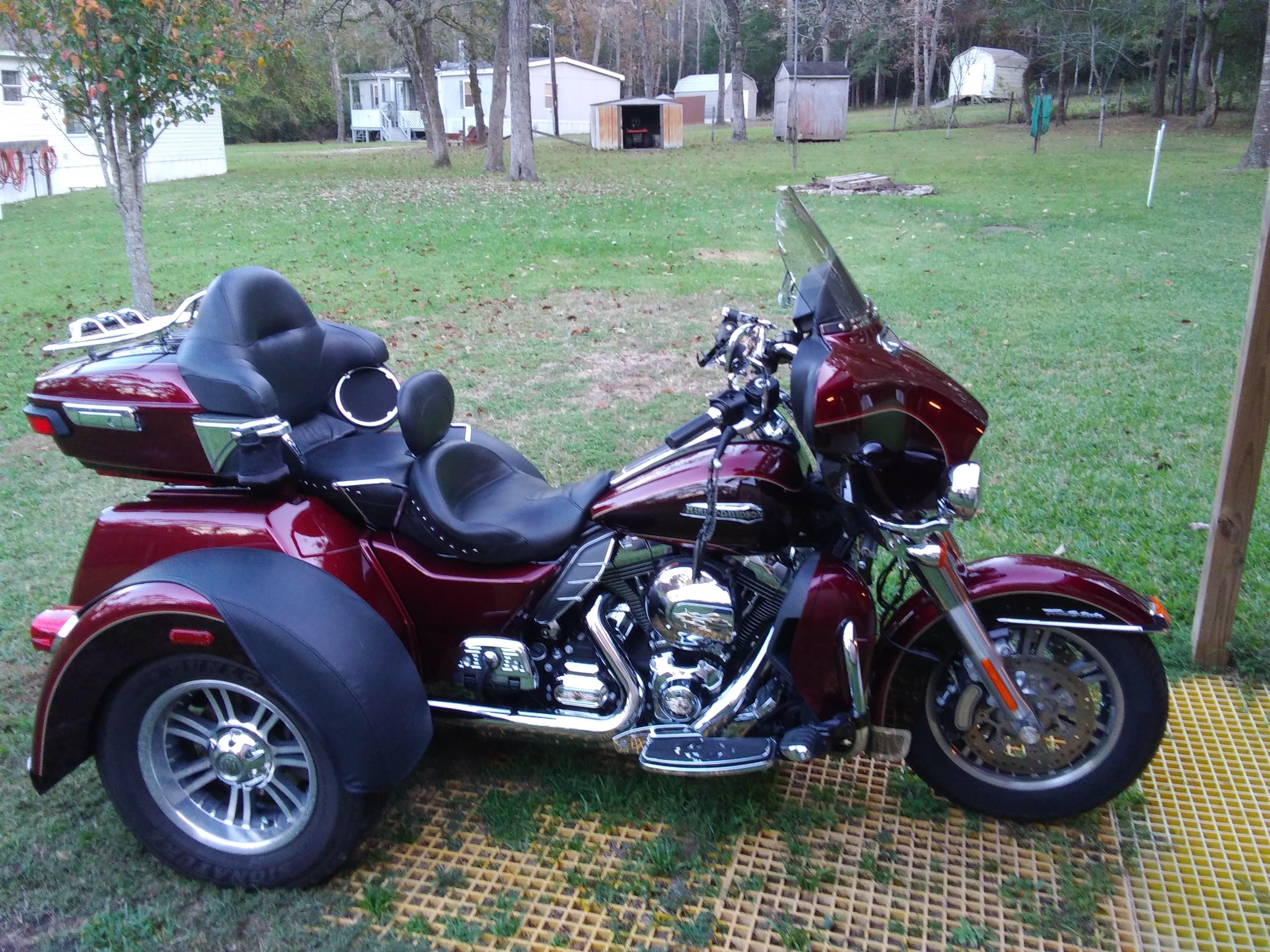 2014 Harley Davidson Flhtcutg Tri Glide Ultra Classic Red Trailer Wiring Harness Cayenne Hockley Texas 787784 Chopperexchange