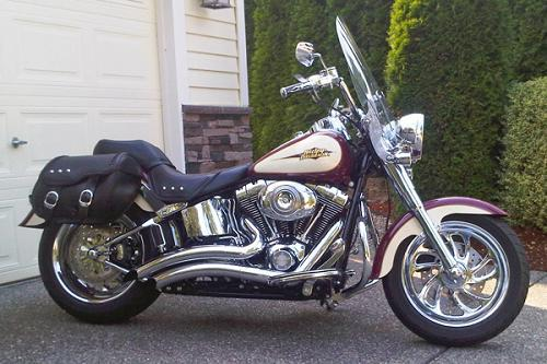 2007 Harley Davidson 174 Flstf Softail 174 Fat Boy 174 Burgundy
