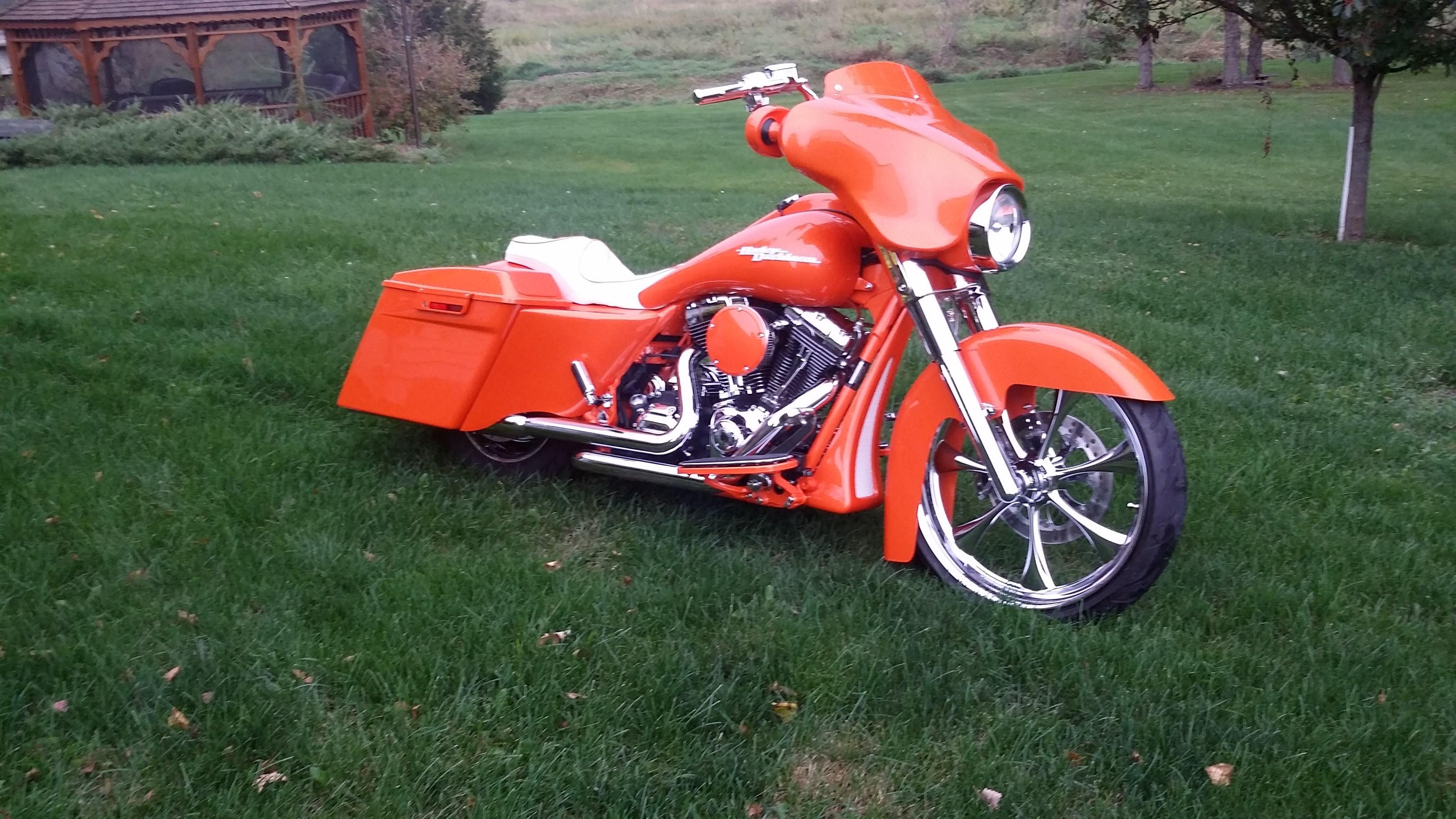 2009 Harley Davidson Flhx Street Glide Orange House Of Kolor