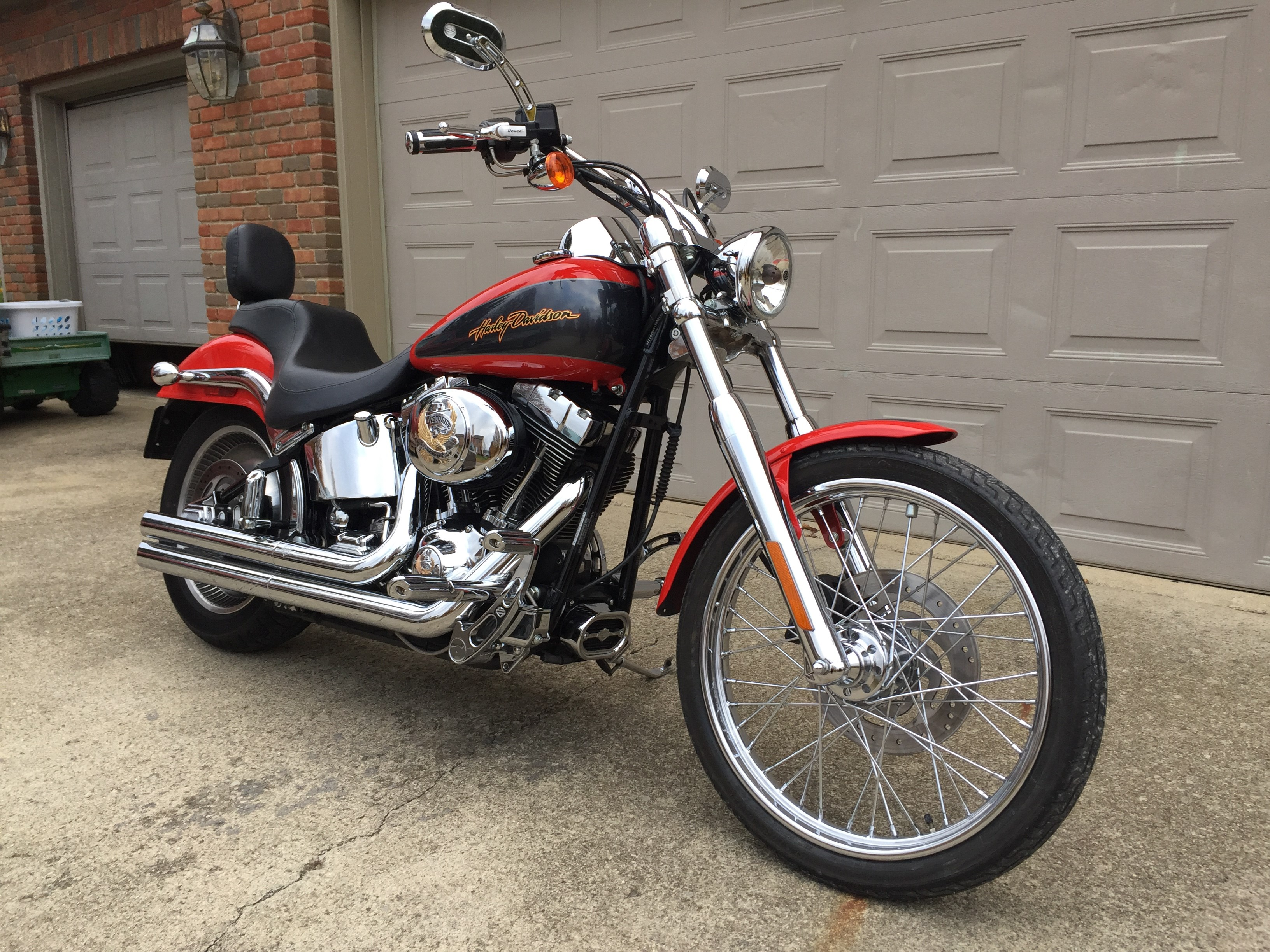 furthermore O as well Sports in addition Deucecustomseat in addition . on 2004 harley fxstd