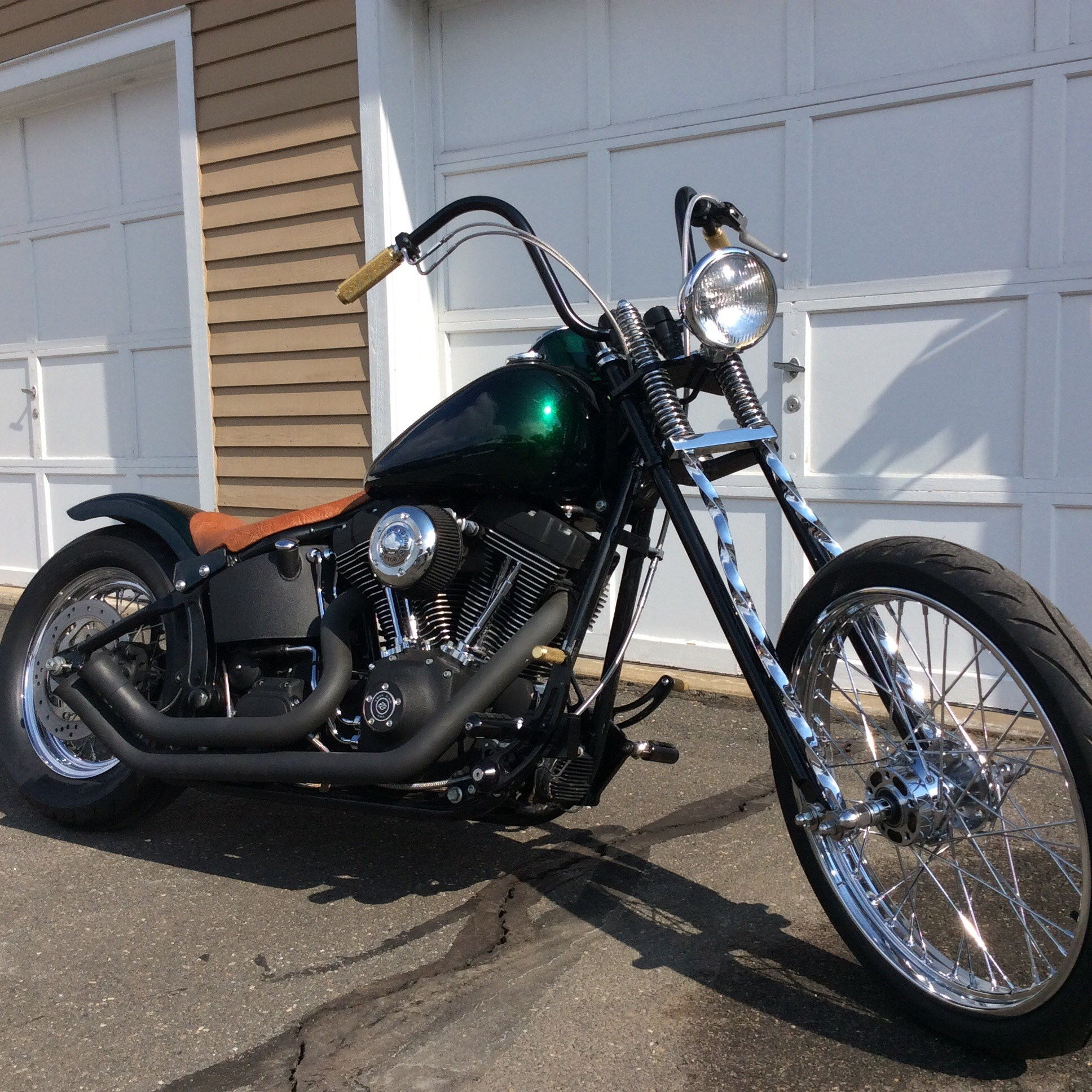 Twisted Springer Front End  Motorcycle Profile: Ferry Clot's Panafina