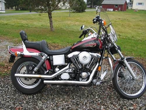 1998 Harley Davidson 174 Fxdwg Dyna 174 Wide Glide 174 Red Black