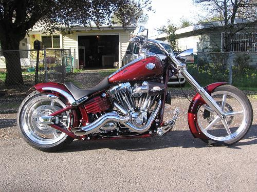 2009 Harley Davidson 174 Fxcwc Softail 174 Rocker C Ruby Red W