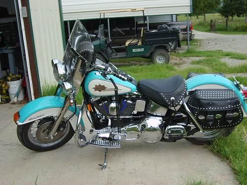 1997 Harley-Davidson® FLSTC Heritage Softail® Classic (turquoise@ cream), lone oak, Texas (59587 ...