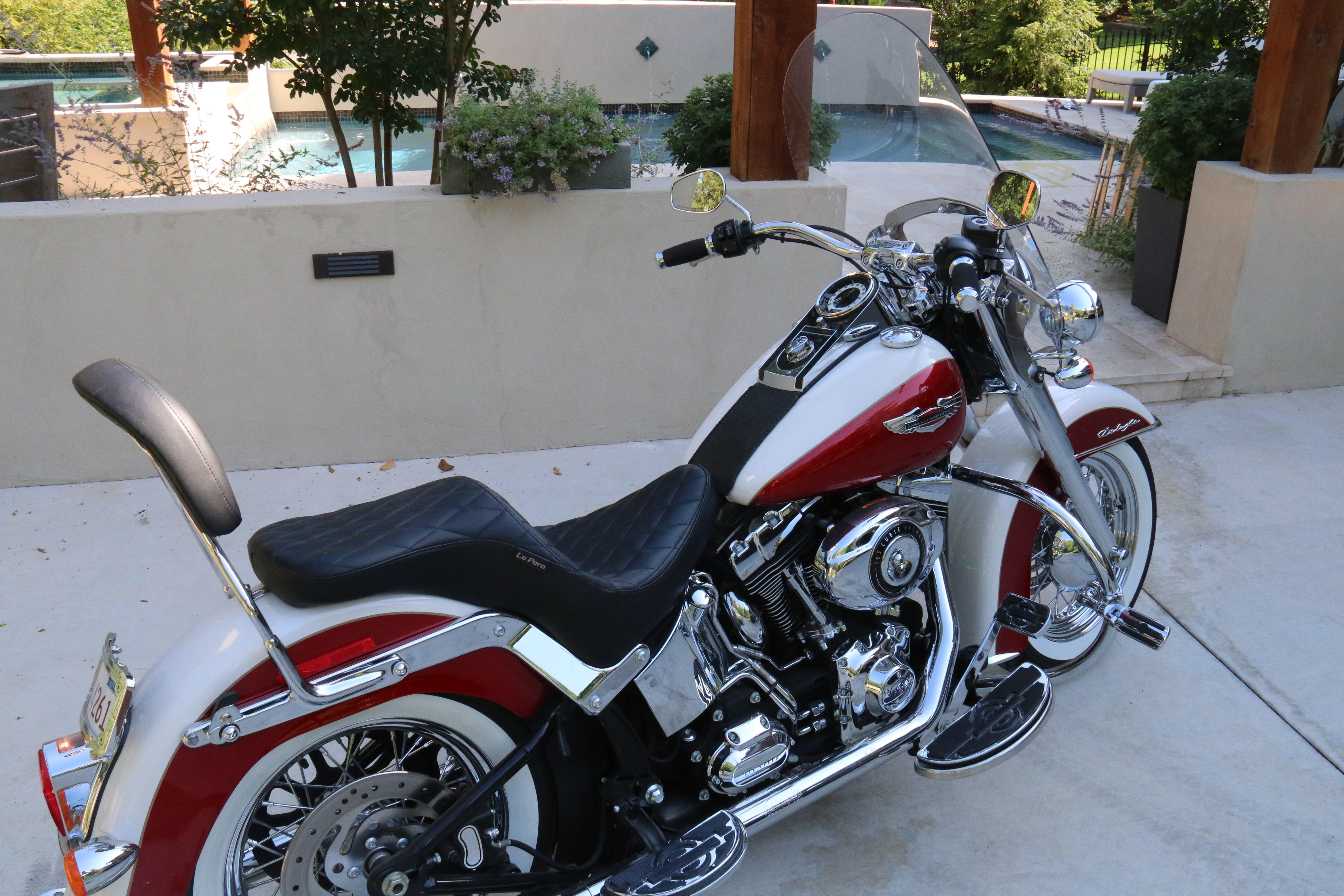 Nada Motorcycle Value >> 2013 Harley-Davidson® FLSTN Softail® Deluxe (Red/White), Tulsa, Oklahoma (646697) | ChopperExchange