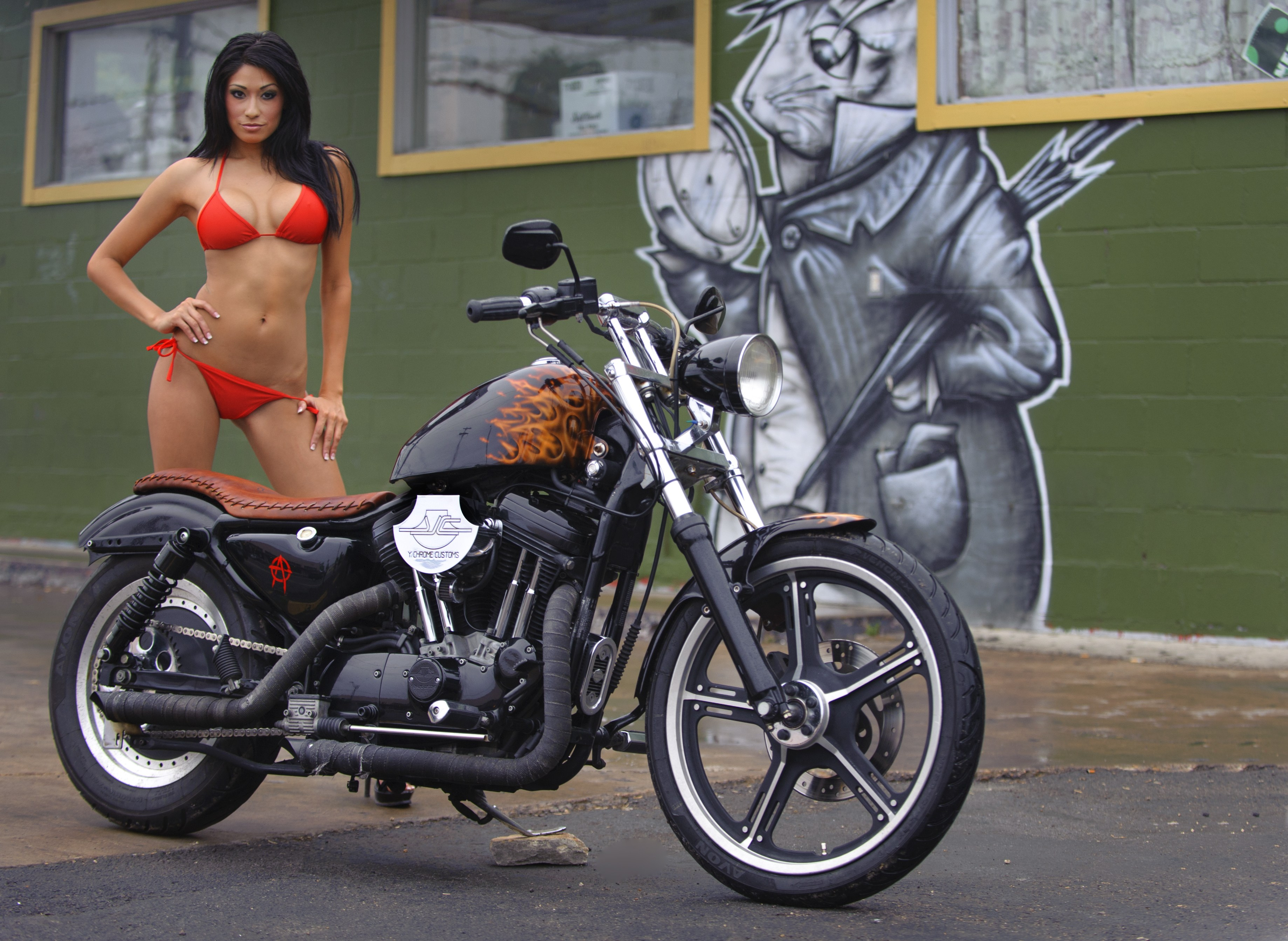 O on Sportster Chopper Parts