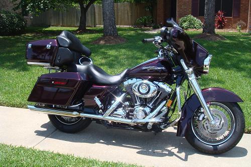 2007 Harley Davidson 174 Flhx Street Glide 174 Black Cherry