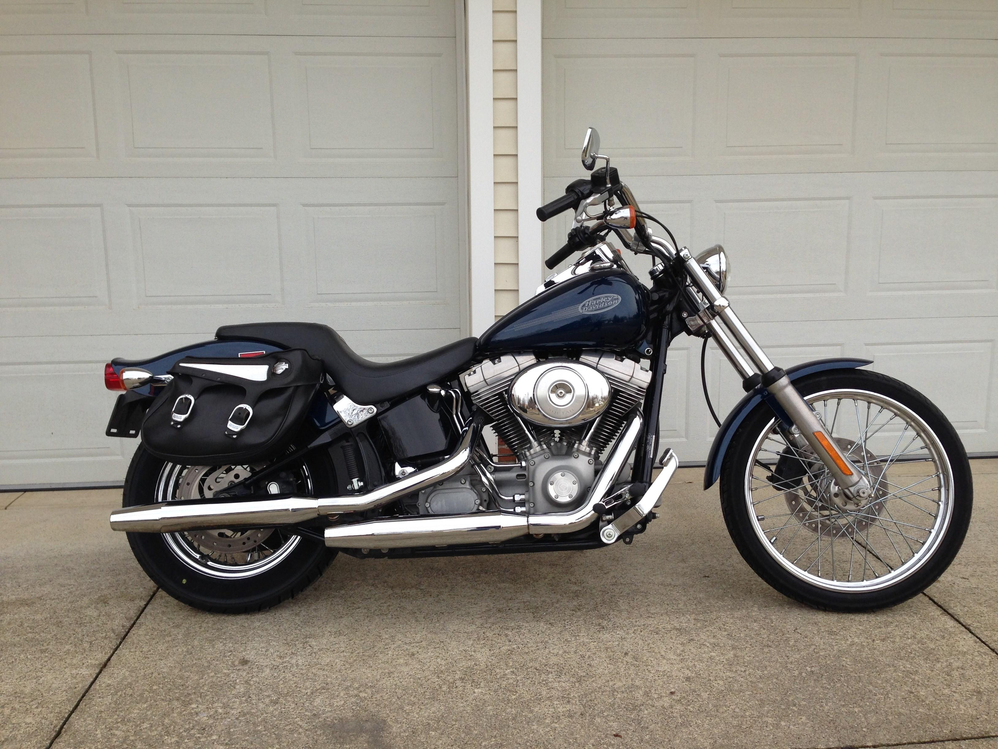Used Motorcycles Nj >> 2002 Harley-Davidson® FXST/I Softail® Standard (Blue), Orrville, Ohio (648501) | ChopperExchange