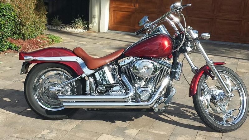 2004 Harley Davidson 174 Fxst I Softail 174 Standard Candy