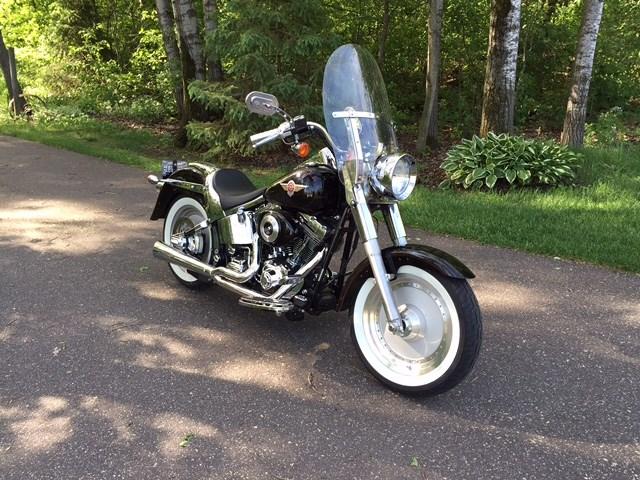 Harley Davidson Dealership Minnesota >> 2002 Harley-Davidson® FLSTF/I Softail® Fat Boy® (Black), Stillwater, Minnesota (318367 ...