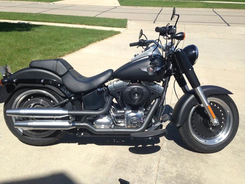 2012 Harley-Davidson® FLSTFB Softail® Fat Boy® Lo (Flat Black ...